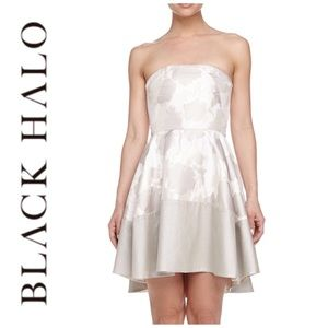 Black Halo Clarkson Strapless Fit and Flare Dress